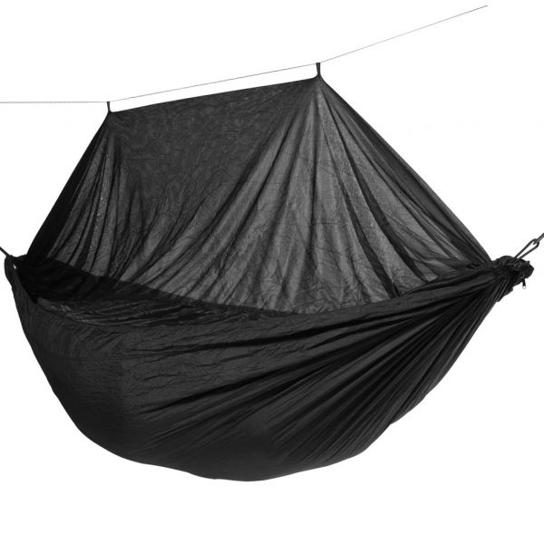 'Mosquito' Black Enkel Outdoor Hängmatta