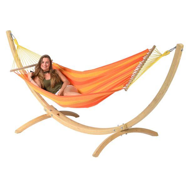 'Relax' Orange Enkel Hängmatta