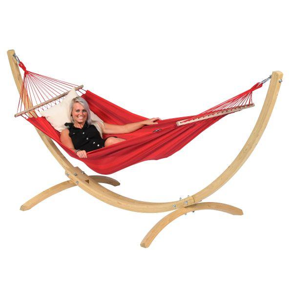'Relax' Red Enkel Hängmatta