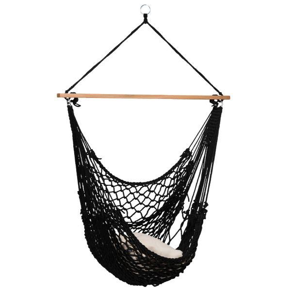 'Rope' Black Enkel Hängstol